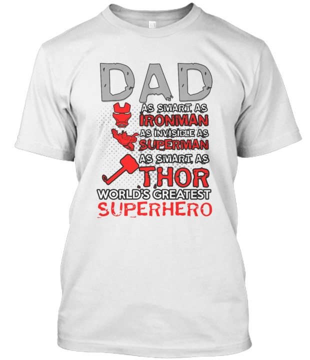 35b30105 DAD as smart as IRONMAN | T-Shirt Zone